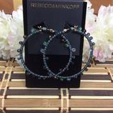 Rebecca Minkoff Jewelry   14k Gold Plated Beaded Hoop Earrings   Color: Gold   Size: Os