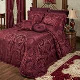 Camelot Grande Bedspread Burgundy, California King, Burgundy