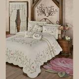 Posy Floral Grande Bedspread Natural, California King, Natural