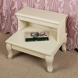 Cessilee Bed Steps , Whitewash