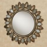 Ballari Round Wall Mirror Burnished Silver , Burnished Silver