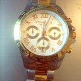 Michael Kors Jewelry | Michael Kors Watch For Women | Color: Gold/Tan/White | Size: Os
