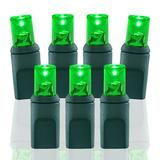 Wide Angle Conical Battery Operated LED D Cell 50 Lights - Green