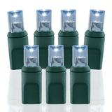 Wide Angle Conical Battery Operated LED D Cell 50 Lights - Pure White