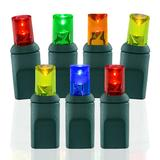 Wide Angle Conical Battery Operated LED D Cell 50 Lights - Multi