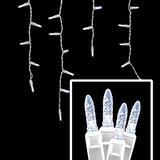 LED Icicle Lights - 70 Light Set - Pure White