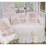 Harriet Bee Dematteo 3 Piece Crib Bedding Set Cotton Blend in Pink/White, Size 6.0 W in   Wayfair 50BLP-3P