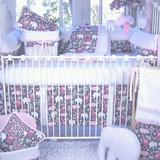 Zoomie Kids Alaniz 3 Piece Crib Bedding Set Cotton Blend in Pink | Wayfair 21ACP-3P