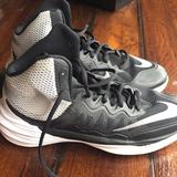 Nike Shoes | Back And Gray Nike Basketball Shoes Size 5 | Color: Black/Gray | Size: 5