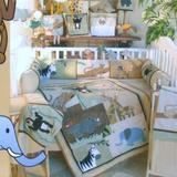 Zoomie Kids Akins 4 Piece Crib Bedding Set Cotton Blend, Size 52.0 W in | Wayfair 141-4POS