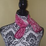 Coach Accessories | Authentic Coach Pink Scarf | Color: Pink | Size: 21 X 21