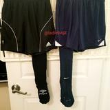 Nike Bottoms   Nike, Adidas, Umbro Soccer Shorts & Socks Bundle   Color: Black/Blue   Size: Mb