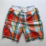 American Eagle Outfitters Swim   Mens Swimsuit   Color: Orange/White   Size: L