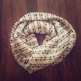 Anthropologie Accessories | Anthropologie Circle Scarf | Color: Black/White | Size: Os