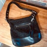Coach Bags   Nwot Coach Purse In Black With Leather Strap   Color: Black   Size: Os