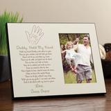 CPS Daddy Hold My Hand Personalized Picture Frame Wood in Brown, Size 8.0 H x 10.0 W x 1.0 D in | Wayfair 59440