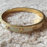 Coach Jewelry   Authentic Coach White Bangle With Gold Hearts   Color: Gold/White   Size: Os