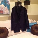 Burberry Suits & Blazers | Burberry Men'S Pin Striped Sport Coat. Size 48l. | Color: Blue/White | Size: 48l