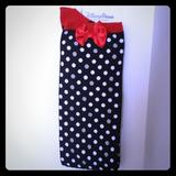 Disney Accessories   Disney Parks Minnie Mouse Polka Dot Long Socks   Color: Black/Red   Size: Os