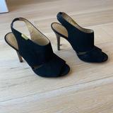 Coach Shoes | Coach Black Suede Slingbacks | Color: Black | Size: 7