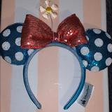 Disney Accessories   Disney Minnie Ears Headband   Color: Blue/Pink   Size: Os