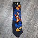 Disney Accessories   Disney Mens Tie Necktie Winnie The Pooh Tigger   Color: Black/Blue   Size: Os