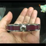 Coach Jewelry   Coach Purple Enamel Bracelet   Color: Purple/Silver   Size: Os