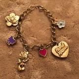 Disney Jewelry | Girls Minnie Charm Bracelet Free Wpurchase | Color: Gold | Size: Os
