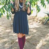 American Eagle Outfitters Dresses | Black Baby Doll Dress. | Color: Black | Size: S