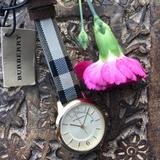 Burberry Accessories | Burberry Watch Ladies | Color: Cream/Red | Size: Os