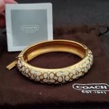 Coach Jewelry   Like New Coach Signature Gold & Cream Bracelet   Color: Cream/Gold   Size: Os