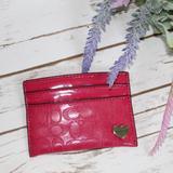 Coach Bags | Coach Fuchsia Nylon Card Wallet | Color: Pink | Size: Os