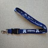 Disney Accessories | Disneyland 50th Anniversary Lanyard Key Chain Clip | Color: Blue | Size: Os