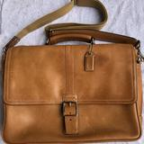 Coach Bags | Coach Tsl Flap Business Brief In Camel | Color: Tan | Size: Os