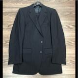 Burberry Suits & Blazers | Burberry Navy W Purple Pinstripe Suit 38l Long | Color: Blue/Green/Purple/White | Size: 38l