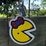 Coach Accessories | Coach Mrs Pac-Man Fob Keychain Pacman Nwt Ghost | Color: Red/Yellow | Size: Os