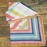 Coach Accessories | Coach Stripped Scarf Beautiful Colors! | Color: Pink/White | Size: Os