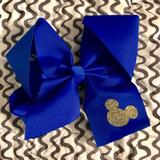 Disney Accessories | Free Customization! 6 Mickey Mouse Bow | Color: Blue | Size: Os