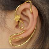 Disney Jewelry | 5pair Beauty & Beast Rose Vine Gold Ear Cuffs | Color: Gold/Red | Size: Os