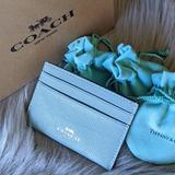 Coach Bags   Coach Tiffany Blue Card Case Wallet Holder   Color: Blue   Size: Os