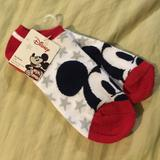 Disney Accessories   Mickey Stars Socks *Firm Price*   Color: Red/White   Size: Os