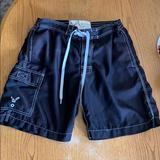 American Eagle Outfitters Swim   Mens American Eagle Swim Trunks   Color: Black   Size: Xs