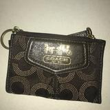Coach Bags   Authentic Coach Brown Card Case Wallet   Color: Brown/Gold   Size: Os