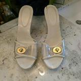 Coach Shoes   Authentic Coach Plastic And Wooden Clogs W Locket   Color: Cream/Gold   Size: 8
