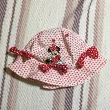 Disney Accessories | Minnie Mouse Beach Hat | Color: Red/White | Size: Osbb
