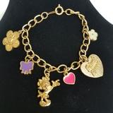 Disney Accessories   Disney Minnie Charm Bracelet   Color: Gold   Size: Osbb