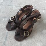 Anthropologie Shoes | Corso Como Buckle Heel | Color: Brown/Gold | Size: 9.5