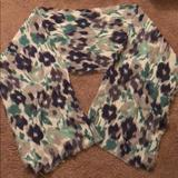 American Eagle Outfitters Accessories | Long Pattern Scarf | Color: Gray/Purple | Size: Os