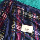 Coach Accessories | Coach Square Silk Scarf Navy Blue Strippes | Color: Blue | Size: Os