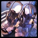 Coach Shoes   Coach ...... High Heel Sandals   Color: Gold/Tan   Size: 7